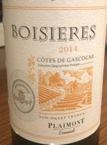Boisieres Rouge Cotes de Gascogne 2014_2