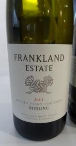 Frankland Estate Netley Road Riesling 2013