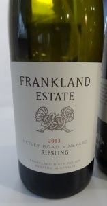 Frankland Estate Netley Road Riesling 2013