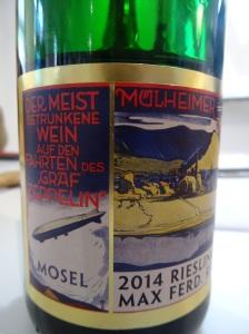 Max Ferdinand Richter Zeppelin Riesling Mülheimer Sonnenlay 2014