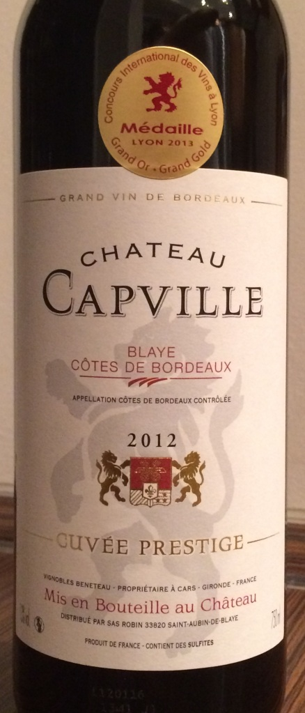 Château Capville Blaye Côtes de Bordeaux