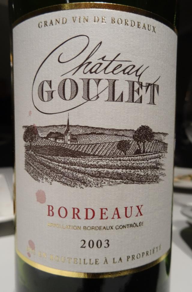 4. Château Goulet 2003