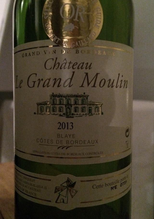 01. Château le Grand Moulin Blanc 2013 AOC Blaye Côtes de Bordeaux