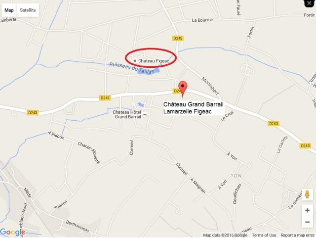 07. Château Grand Barrail Lamarzelle Figeac_map