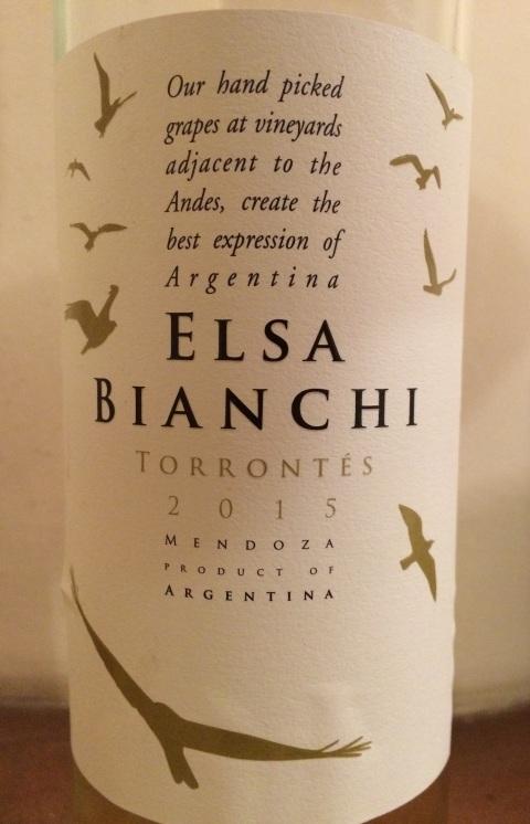 04. Valentin Bianchi SA Elsa Bianchi Torrontés 2015 Mendoza Argentina.jpg